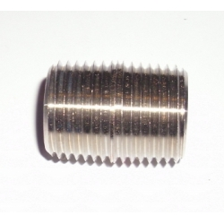 "1/4"" NPT close nipple Stainless"