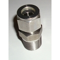 "1/2"" NPT x 1/2"" Tube compression adapter SS"