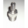 "1/2 NPT male x 3/8"" hose barb - 304 stainless"