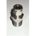 "1/2"" NPT x 3/8"" Tube Compression adapter  SS"
