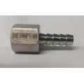 "1/4"" FEMALE NPT x 1/4"" hose barb -  Stainless"