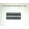 "1/2"" STRAIGHT thread nipple 1.5"" long"