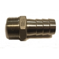 "3/4"" NPT x 3/4"" hose barb -  Stainless"