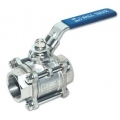 "1/2"" NPT stainless steel 3 piece ball valve"
