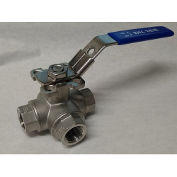 "3 way TYPE T 1/2"" NPT ball valve"