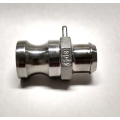 "1/2"" SS Camlock Big E - Male x 3/4"" Barb"