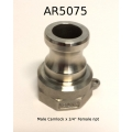 "1/2"" SS Camlock Male x 3/4"" NPT Female thread"