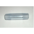 "Clear PVC 1/2"" NPT nipple - 3"" long"