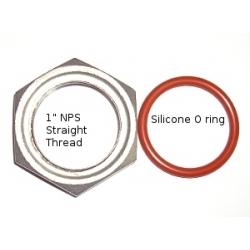 """1"""" SS NPS Locknut and o-ring kit"""