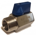 "Mini Ball Valve - SS 1/2"" NPT MxF"