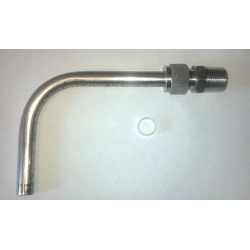 WELDED VERSION - CENTER - Stainless Drain tube / pick up kit