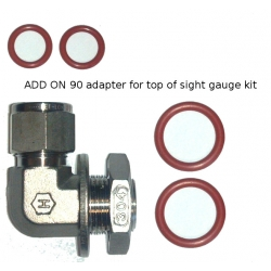 Top adapter for sight gauge