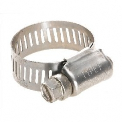 "#8 SS hose clamp - Fits 3/4"" tubing"