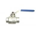 "1 "" NPT SS 2 piece ball valve"