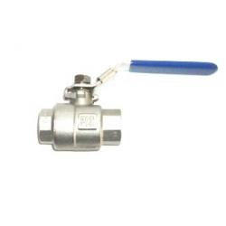 "1/2"" NPT SS 2 piece ball valve"